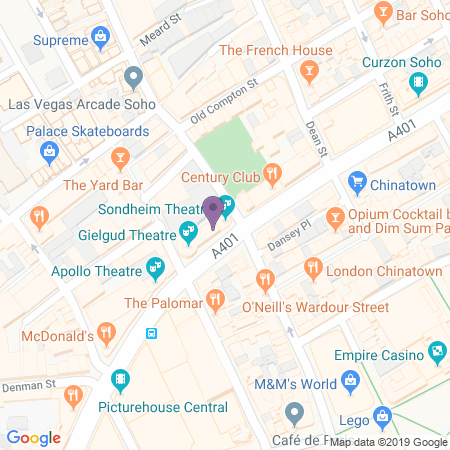 Sondheim Theatre Location