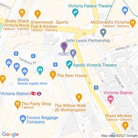Apollo Victoria Theatre Location