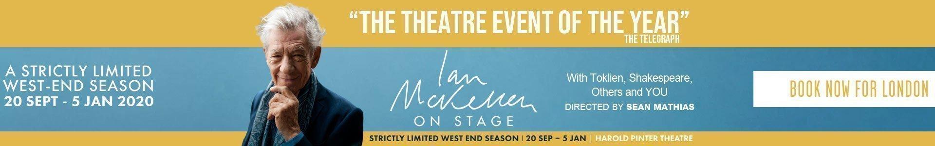 Ian McKellen on Stage: Tolkien, Shakespeare and You! Tickets