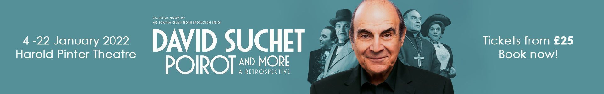 David Suchet - Poirot and More tickets now on sale!