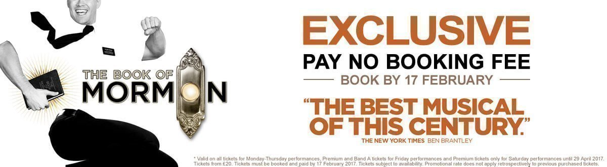 The Book Of Mormon - No Booking Fee