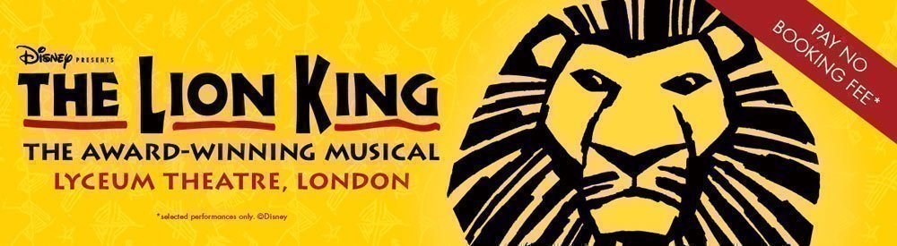 The Lion King - No Booking Fees
