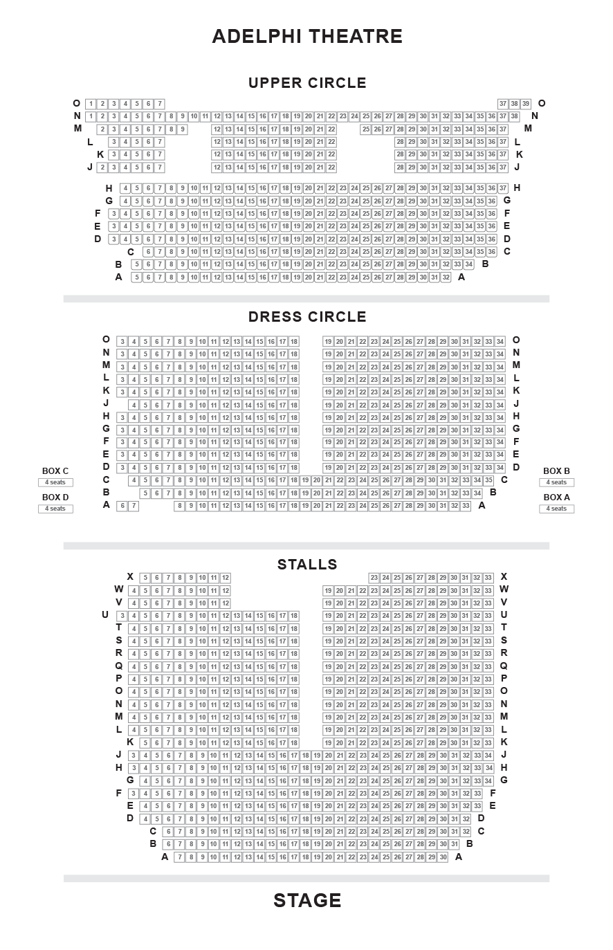 The Cockpit Theatre Seating plan