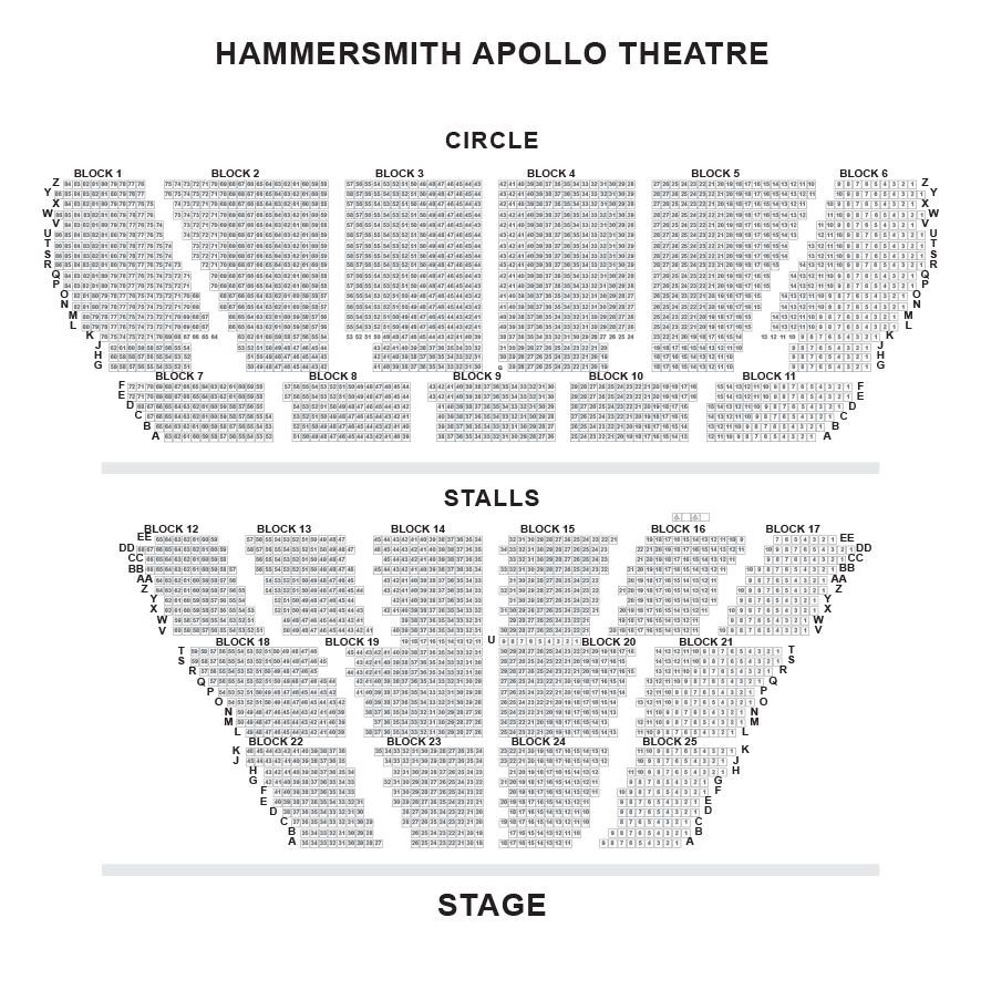 Hammersmith Apollo Eventim Seating Plan London Box