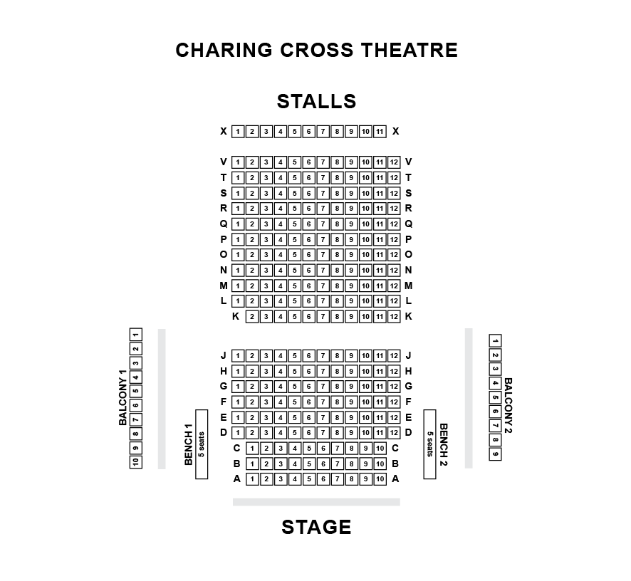 Charing cross theatre seating plan radio times ragtime death takes a holiday london box office - Kings cross ticket office opening times ...