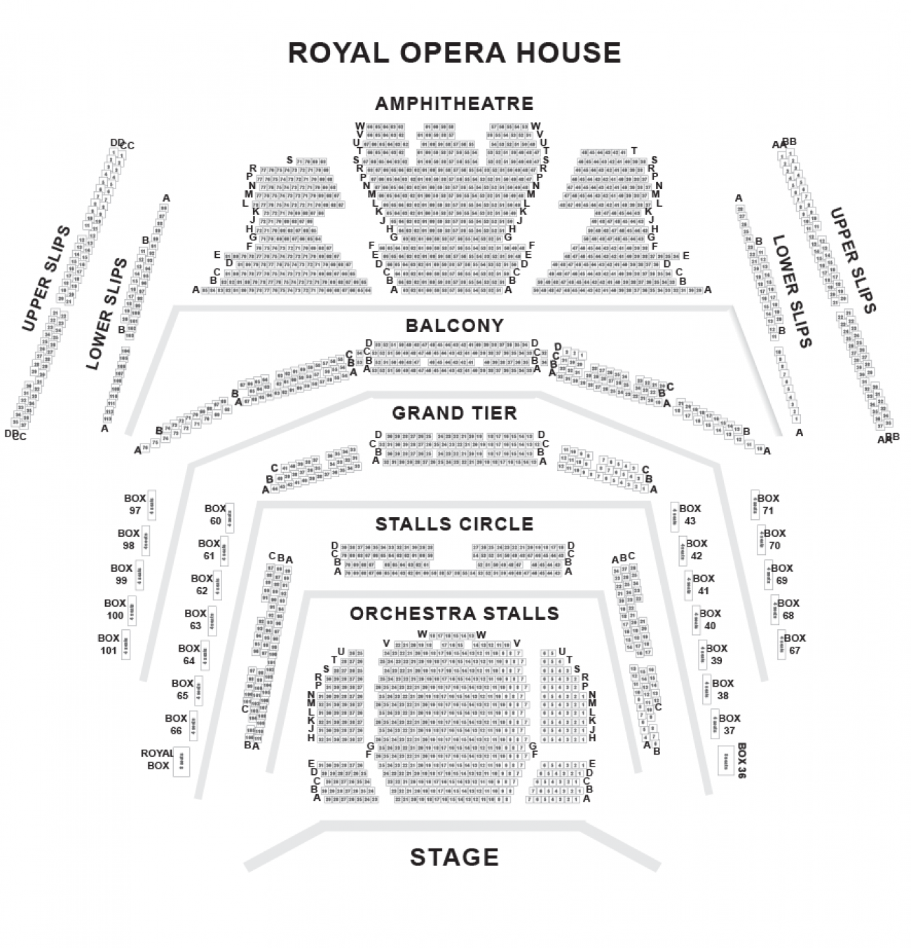 Royal Opera House Seating plan
