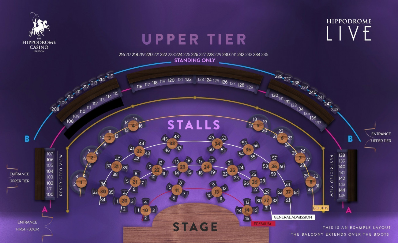 London Hippodrome Seating plan