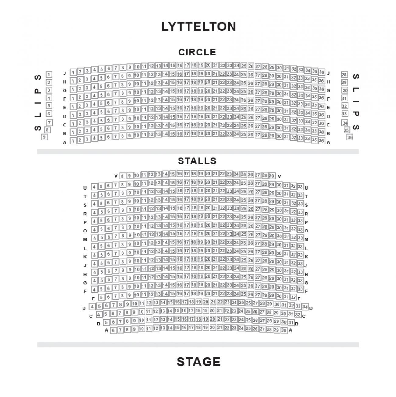 Lyttelton - National Theatre Seating plan