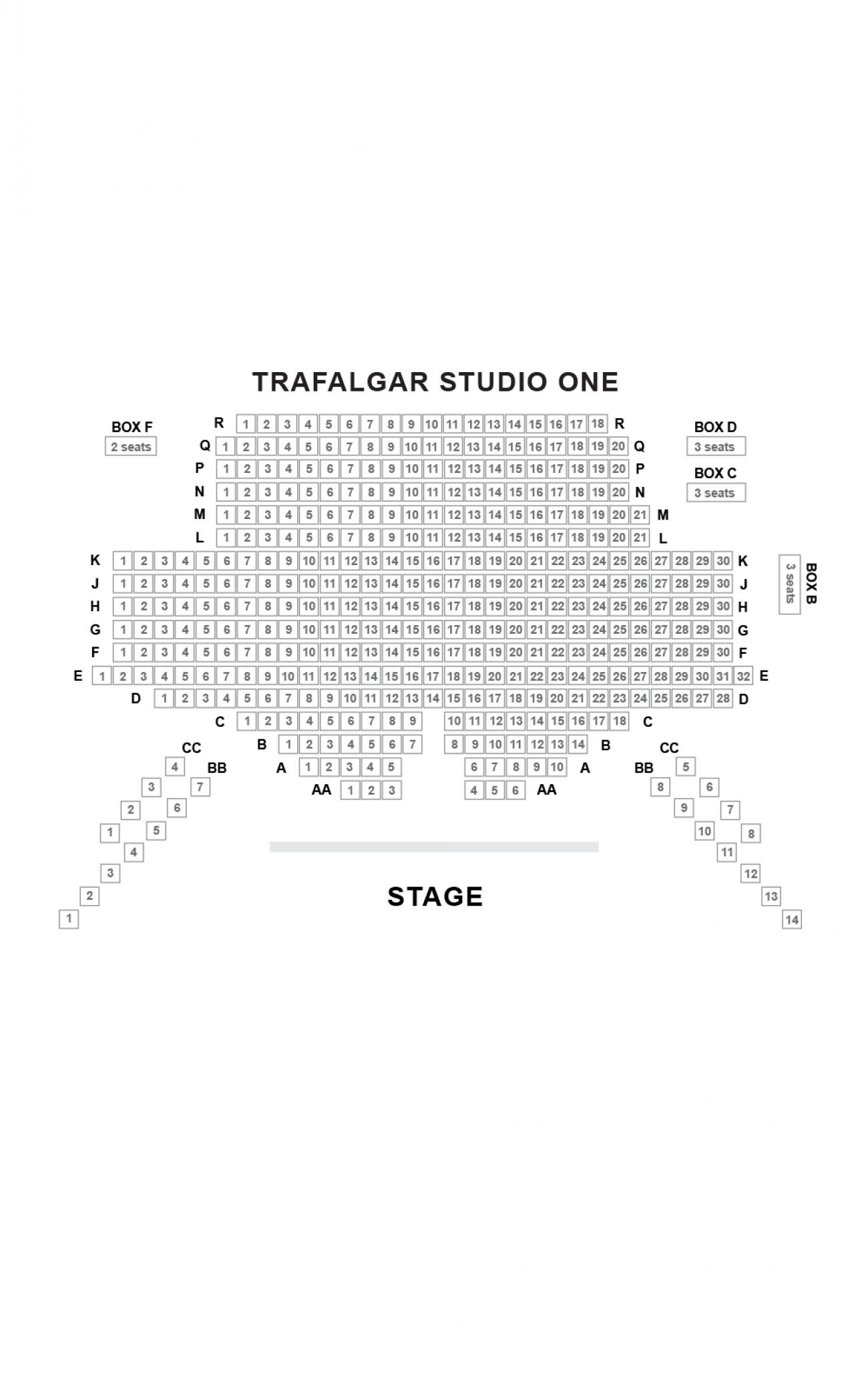Trafalgar Studios (One) Seating plan
