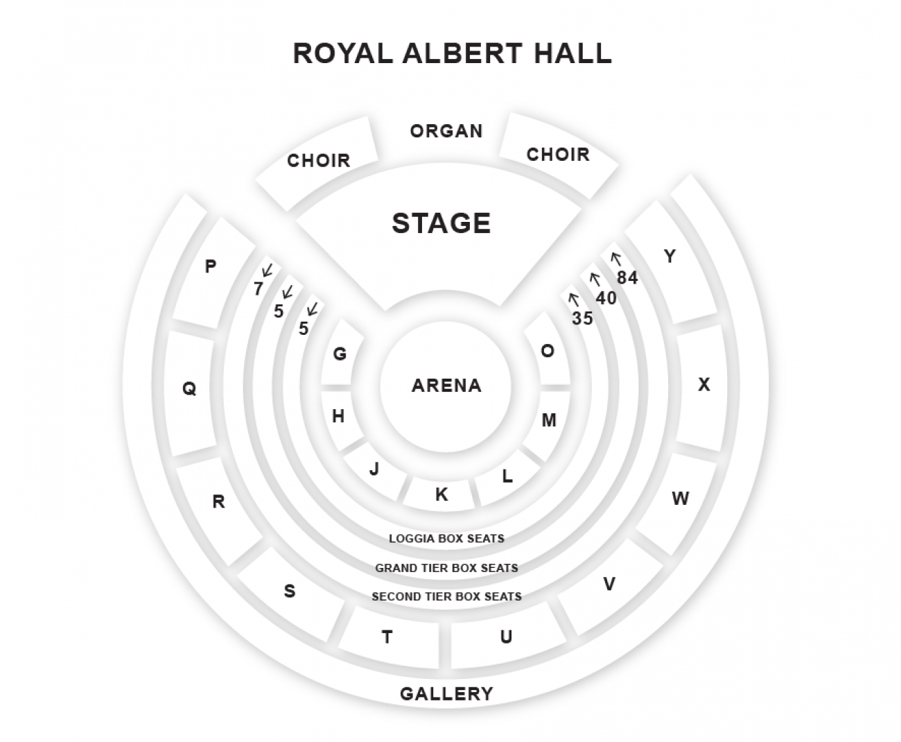 Royal Albert Hall Seating plan