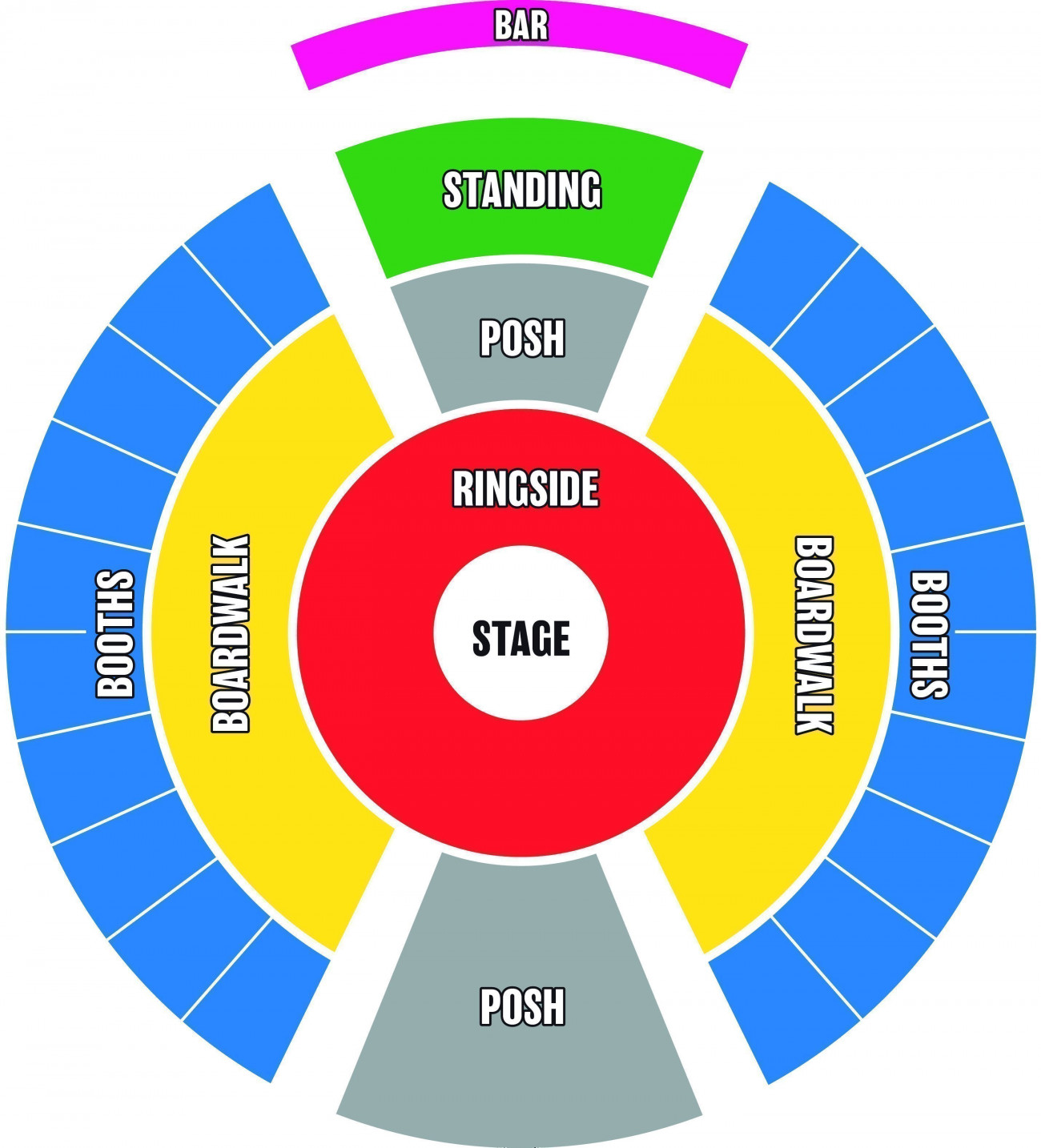 Christmas in Leicester Square Seating plan
