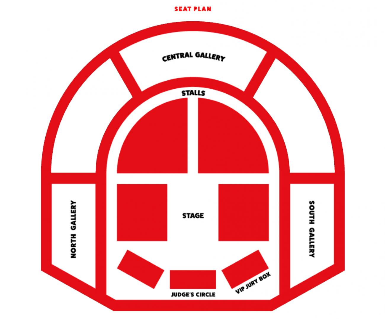 London County Hall Seating plan