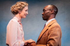 Rachel Pickup and Jotham Annan in For Services Rendered at Jermyn Street Theatre. Photo by Robert Workman