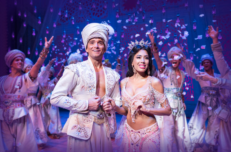 Aladdin (Matthew Croke) and Jasmine (Jade Ewen) wedding scene - photo by Deen van Meer