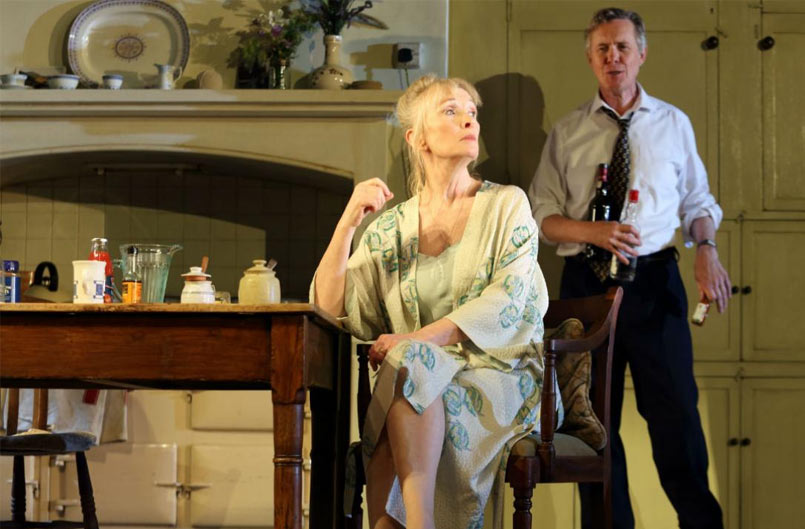Diana (Lindsay Duncan) and Robin (Alex Jennings) in Hansard at the National Theatre. Photo by Catherine Ashmore