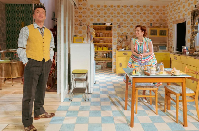 Richard Harrington as Johnny and Katherine Parkinson as Judy in Home I'm Darling Photo by Manuel Harlan