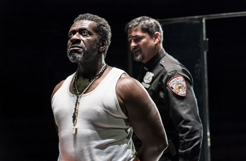 Oberon K. A. Adjepong and Joplin Sibtain in Jesus Hopped the 'A' Train at the Young Vic. Photo by Johan Persson